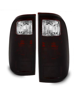 For Ford F250/F350/F450 Superduty Oe Replacement Black Tinted Tail Lights Driver/Passenger Rear Lamps Pair