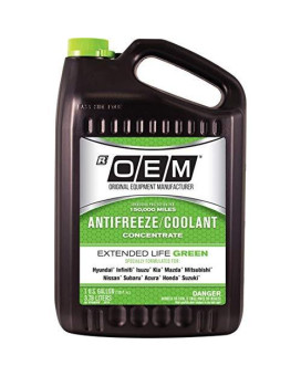 Recochem Oem 86-374Groem Green Premium Antifreeze Concentrate Extended Life Green, 1 Gallon, 1 Pack