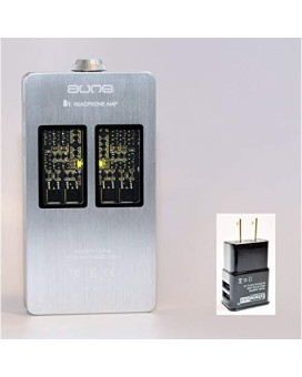 Aune B1 Portable Hifi Headphone Amplifier Silver With Extreme Audio High Speed Usb Charger
