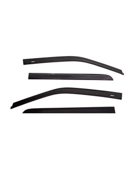 Auto Ventshade 774015 Low Profile Matte Black Ventvisor Side Window Deflector, 4-Piece Set For 2007-2018 Toyota Tundra Double Cab