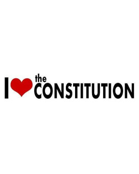 I Love The Constitution Sticker Decal Vinyl Bumper Cool Gift D