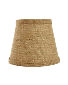 Ahs Lighting Sd0967-14We Natural Burlap Empire Lamp Shade With Washer, 14""