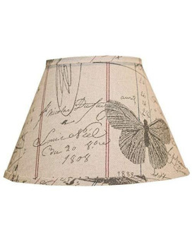 Ahs Lighting Sd1378-16Pd Antique Ledger Fossil Drum Lamp Shade With Uno, 16""