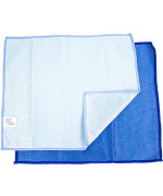 Zwipes Microfiber Glass Mirror And Window Cleaning And Polishing Cloth | Dual-Sided | 2 Pack, Blue