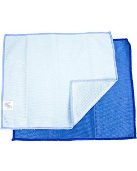 Zwipes Microfiber Glass Mirror And Window Cleaning And Polishing Cloth   Dual-Sided   2 Pack, Blue