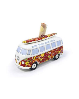 Brisa Vw Collection Vw T1 Bus Money Bank With Surf Board (1:18) - Bubble