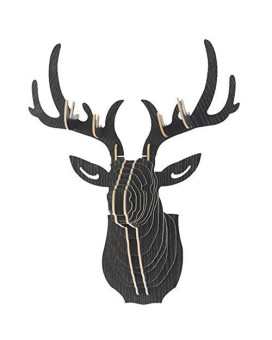 A.B Crew Vintage Style Diy 3D Puzzle Deer Head Wall Hanging Decor(Black)
