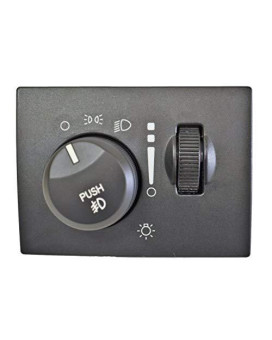 Pt Auto Warehouse Hls-5458 - Headlight Switch - Without Auto Headlights, With Fog Lights