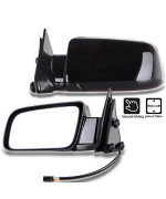 Scitoo Chevy Towing Mirrors Fit 1988-1998 Chevrolet Gmc Pickup Truck 1992-1994 Chevrolet Blazer Gmc Jimmy 1995-1998 Chevrolet Tahoe Mc Yukon Power Control Manual Folding Features 15764757 15764758