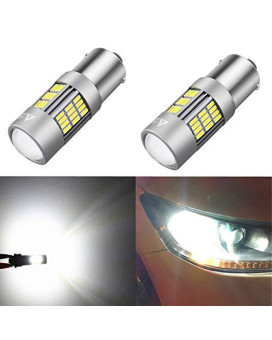 Alla Lighting Super Bright 1156 7506 Ba15S Newest Version 4014 54-Smd 6000K Xenon White Led Lights Bulbs For Auto Back-Up Reverse Lights Lamp Replacement ??