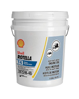 Rotella T4 Triple Protection Diesel Motor Oil 15W-40 Ck-4, 5 Gallon - Pack Of 1