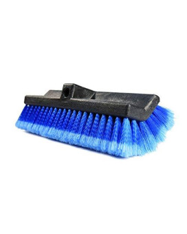 """Carcarez 13"""" Flow-Thru Bi-Level Car Wash Brush Head With Soft Bristle For Auto Rv Truck Boat Camper Exterior Washing Cleaning"""