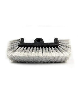 """Carcarez 11"""" Car Wash Brush With Soft Bristle For Auto Rv Truck Boat Camper Exterior Washing Cleaning, Grey"""