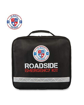 62 Piece Safety Roadside Assistance Kit - All-In-One Car First Aid Emergency Kit Roadside Assistance Auto Emergency Kit