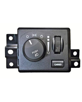 Pt Auto Warehouse Hls-7782 - Headlight Switch, Without Auto Headlights - With Fog Lights, With Cargo Light