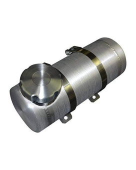 6X10 End Fill Spun Aluminum Gas Tank 1/4 Npt Offset- Go-Kart, Mini Bike 1 Gallon - Made In The Usa!
