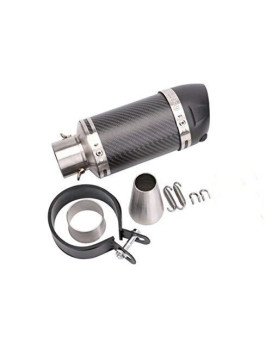 Annpee Universal Motorcycle Scooter Modified Muffler Carbon Fiber Exhaust Pipe Cbr 125 250Cb400 Cb600 Yzf Fz400 With Removable Db Killer