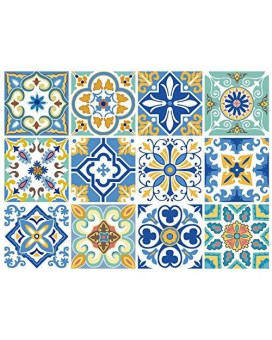 12 Pc Pack Backsplash Tile Stickers 6X6 Inch (15X15Cm) For Home Decoration Bathroom &Amp; Kitchen Vinyl Tile Decals Peel And Stick Diy Wall Sticker Stairs Decals (Ts12-001)