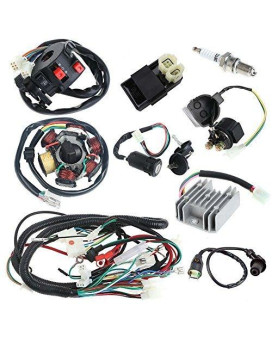 Annpee Complete Electrics Wiring Harness Wire Loom Magneto Stator For Gy6 4-Stroke Engine Type 125Cc 150Cc Pit Bike Scooter Atv Quad