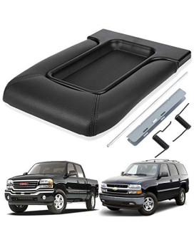 Zinger Center Console Lid Kit For Gm Chevy Silverado Tahoe Suburban Avalanche Cadillac Escalade Sierra Yukon Suv Pickup Truck- Replacement 19127364-Dark Grey