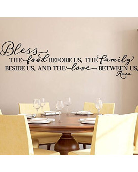 Kitchen Wall Stickers Home Decor, Dining &Amp; Cooking Quote Decal Heart Removable Vinyl Art Decoration (Bless The Food Before Us, The Family Beside Us, And The Love Between Us, Amen)