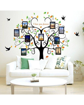 Large Family Tree Wall Decor Removable Tree Picture Frames Wall Decals Vinyl Tree Wall Stickers For Living Room Wall Decor