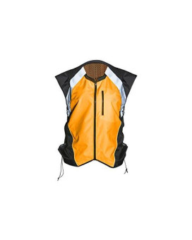 Badass Motogear Hi Vis Reflective Motorcycle Safety Vest. Fits Over Jacket, Zip Front, Pocket (Xl: No Logo Fits Over Lg-Xl Jackets, Bold Orange)