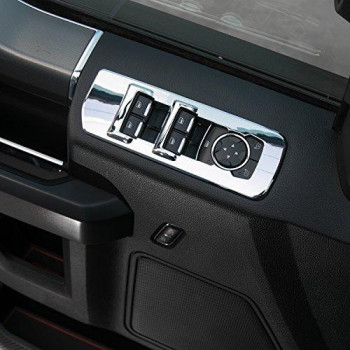 Voodonala Chrome Window Lift Panel Cover Switches Cover Trim For 2015 2016 2017 2018 Ford F150 Accessories