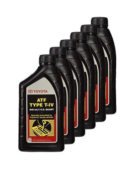 Toyota 6 Pack 00279-000T4 Automatic Transmission Fluid, 192 Ounces, 6 Pack, 192 Ounces, 6 Pack