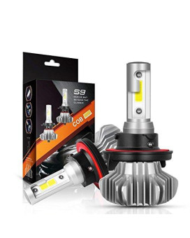 H13/9008 Led Headlight Bulbs Hi/Lo Beam Conversion Kit, Autofeel S9 Series Super Bright 24Xcsp Chips Led Automotive Headlamp 6000K Xenon White (2 Pack)