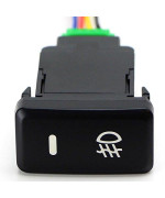 Xotic Tech Factory Style 4-Pole 12V Push Button Switch W/Led Background Indicator Lights For Fog Lights, Drl, Led Light Bar, Etc (39Mm Standard Size)