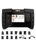 Ancel Fx6000 All System Obd2 Diagnostic Scan Tool With 11 Obd Connectors Automotive Code Scanner For Check Engine Abs Srs Transmission Dpf Tpms Epb Immo Ecu Programming &Amp; Coding