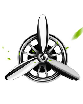 Aokway Car Air Fresheners Vent Clip, Essential Oil Car Fragrance Diffuser Vent Clip Car Decoration Car Purifier Air Force I Spin Propeller Xmas Gift(Silver)