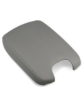 Vanjing Center Console Lid Armrest Replacement Cover For 2008-2012 Honda Accord Synthetic Leather Center Console Cover (Gray)