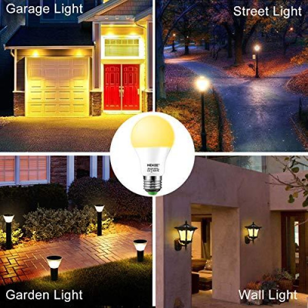 Buy Dusk To Dawn Sensor Light Bulbs Led A19 9w 810 Lumens  Outdoor Porch Lights  60 Watt