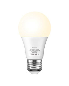 Smart Light Bulb Dimmable Soft White 2700K Rgbw - Aoycocr A19 E26 Color Changing Lights Bulb Work With Alexa Google Home Ifttt For Smart Home, No Hub Required, 750 Lumens, 7.5 (65W Equivalent), 1 Pack