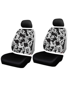 Plasticolor Disney Mickey Mouse Expressions Universal Car Truck or SUV Sideless New 3-Piece Seat Cover w/Head Rest - One Pair