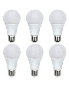 Asencia An-03663 60 Watt Equivalent A19 General Purpose Led Light Bulb, 6-Pack, Non-Dimmable, Daylight (5000K)