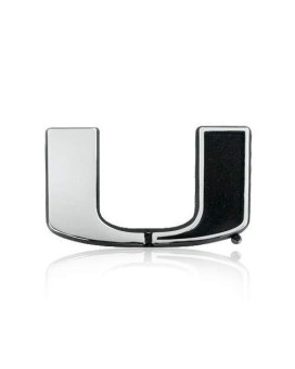 University Of Miami Chrome Metal Car Emblem