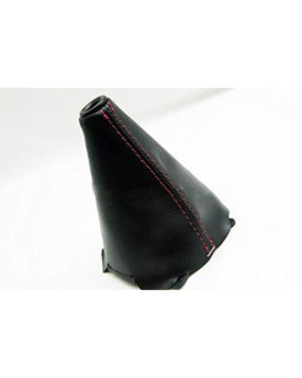 Fits 2006-2011 Honda Civic Si Synthetic Leather Manual Shift Boot With Red Stitching (Vinyl Part Only)