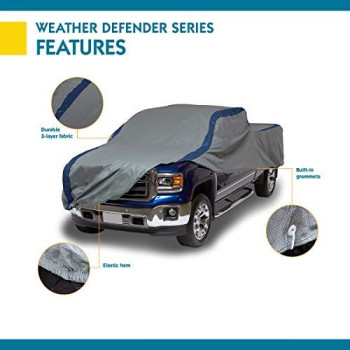 Duck Covers Weather Defender Pickup Truck Cover, Fits Extended Cab Short Bed Trucks up to 19 ft. 4 in. L