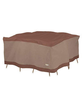 Duck Covers Ultimate Square Table and Chair Set Cover 100in W