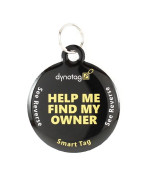 Polymer Coated Stainless Steel Round Tag And Ring. Pet Tag, Property Tag - Multiple Uses.
