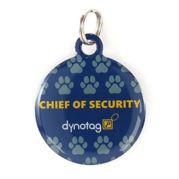 "Super Pet Tag - Polymer Coated Stainless Steel, Play Series: ""Chief Of Security"""