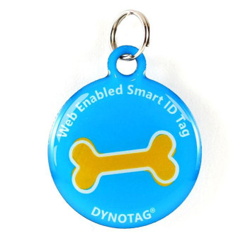 """Super Pet Tag - Polymer Coated Stainless Steel, Play Series: """"Big Bone!"""""""