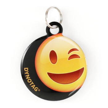 """Super Pet Tag - Polymer Coated Stainless Steel, Play Series: """"Wink!"""""""