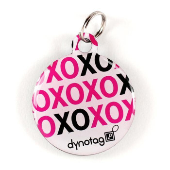 "Super Pet Tag - Polymer Coated Stainless Steel, Play Series: ""Xoxo"""