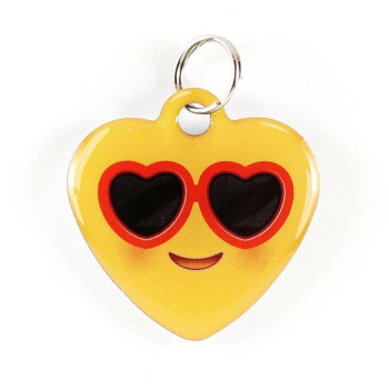 "Super Pet Tag - Polymer Coated Stainless Steel, Play Series, Heart Shape: ""Heart Shades"""