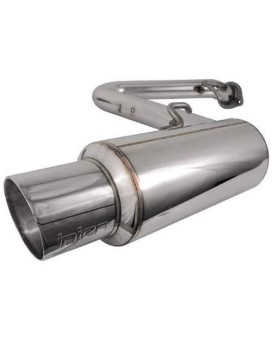 SES2110-Scion Cat Back Exhaust System 60mm W/4'' S.S. Tip (Cat located at rear of axle)