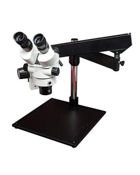 LW Scientific Z4 Zoom Trinoc 3.5x-45x with 0.5x lens on artic-heavy-base boom (no light)